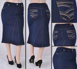 Faldas Mayoreo SG-77422X Dark Indigo Wholesale Plus Size Skirts Nantlis