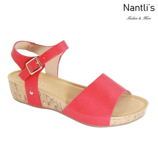 AN-Adina-1 Red Zapatos de Mujer Mayoreo Wholesale Women Shoes Nantlis