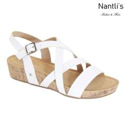 AN-Adina-5 White Zapatos de Mujer Mayoreo Wholesale Women Shoes Nantlis
