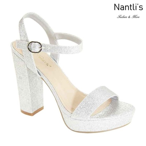 AN-Alexis-5 Silver Zapatos de Mujer Mayoreo Wholesale Women Shoes Nantlis