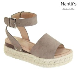 AN-Bessy-1 Taupe Zapatos de Mujer Mayoreo Wholesale Women Shoes Nantlis