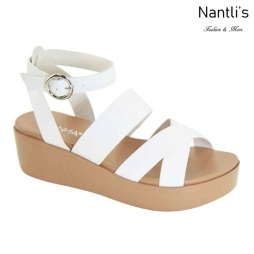 AN-Birtha-1 White Zapatos de Mujer Mayoreo Wholesale Women Shoes Nantlis