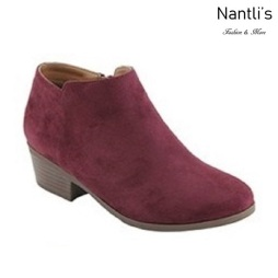 AN-Bradee-07 Burgundy Botas de mujer Mayoreo Wholesale womens Boots Nantlis