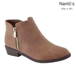 AN-Essie-6K Tan Botas de nina Mayoreo Wholesale girls Boots Nantlis