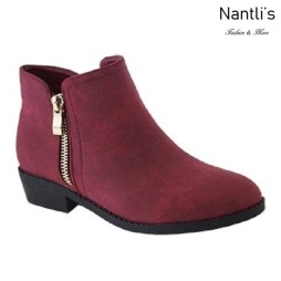 AN-Essie-6K Wine Botas de nina Mayoreo Wholesale girls Boots Nantlis