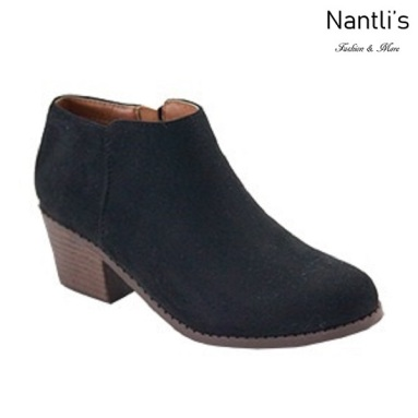 AN-Halo-1k Black Botas de nina Mayoreo Wholesale girls Boots Nantlis