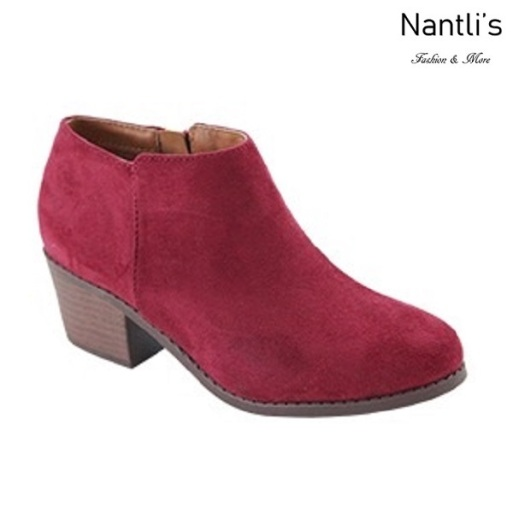 AN-Halo-1k Burgundy Botas de nina Mayoreo Wholesale girls Boots Nantlis