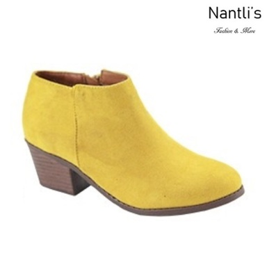 AN-Halo-1k Mustard Botas de nina Mayoreo Wholesale girls Boots Nantlis