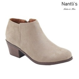 AN-Halo-1k Taupe Botas de nina Mayoreo Wholesale girls Boots Nantlis