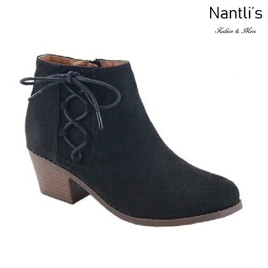 AN-Halo-5k Black Botas de nina Mayoreo Wholesale girls Boots Nantlis