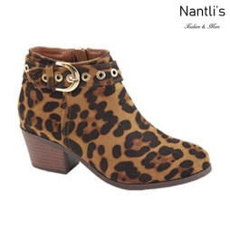AN-Halo-8k Leopard Botas de nina Mayoreo Wholesale girls Boots Nantlis