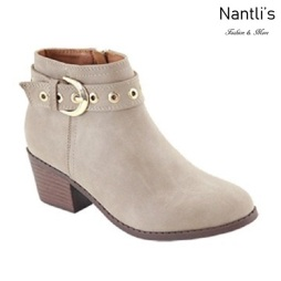 AN-Halo-8k Taupe Botas de nina Mayoreo Wholesale girls Boots Nantlis