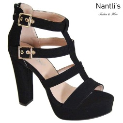 AN-Hermosa Black Zapatos de Mujer Mayoreo Wholesale Women Shoes Nantlis