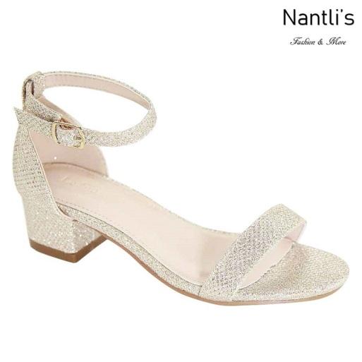 AN-Jean-09K Champagne Zapatos de nina Mayoreo Wholesale girls Shoes Nantlis