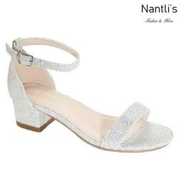AN-Jean-09K Silver Zapatos de nina Mayoreo Wholesale girls Shoes Nantlis