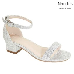 AN-Jean-09K Silver Zapatos de nina Mayoreo Wholesale girls Shoes Nantlis