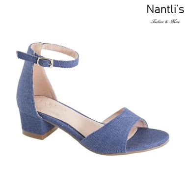 AN-Jean-60K Blue Denim Zapatos de nina Mayoreo Wholesale girls Shoes Nantlis