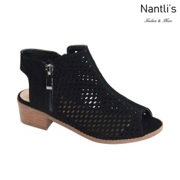 AN-Josefa-1K Black Zapatos de nina Mayoreo Wholesale girls Shoes Nantlis