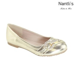 AN-Karmina-20K Gold Zapatos de nina Mayoreo Wholesale girls Shoes Nantlis