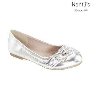 AN-Karmina-20K Silver Zapatos de nina Mayoreo Wholesale girls Shoes Nantlis