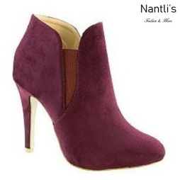AN-Kendall-10 Wine Botas de mujer Mayoreo Wholesale womens Boots Nantlis