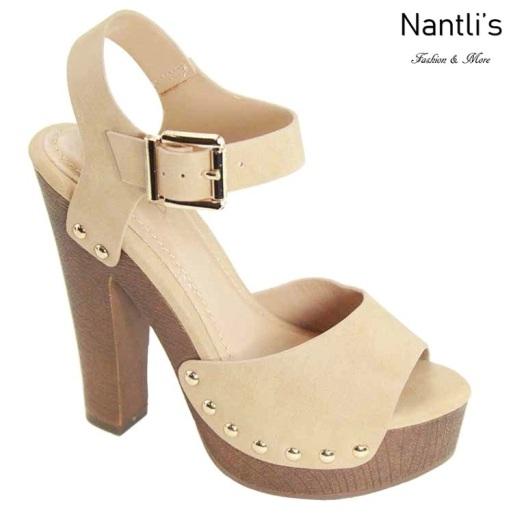 AN-Loula-3 Beige Zapatos de Mujer Mayoreo Wholesale Women Shoes Nantlis
