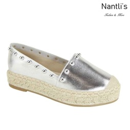 AN-Melanie-20 Silver Zapatos de Mujer Mayoreo Wholesale Women Shoes Nantlis