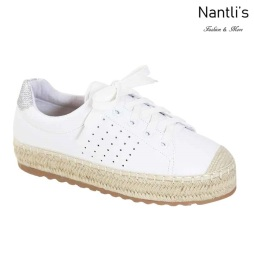 AN-Melanie-40 White Zapatos de Mujer Mayoreo Wholesale Women Shoes Nantlis