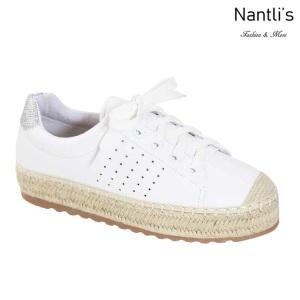 AN-Melanie-40 White Zapatos de Mujer Mayoreo Wholesale Women Shoes Nantlis