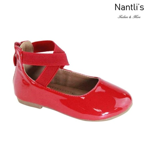 AN-Moana-3E Red Zapatos de nina Mayoreo Wholesale girls Shoes Nantlis