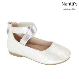 AN-Moana-3E Silver Zapatos de nina Mayoreo Wholesale girls Shoes Nantlis