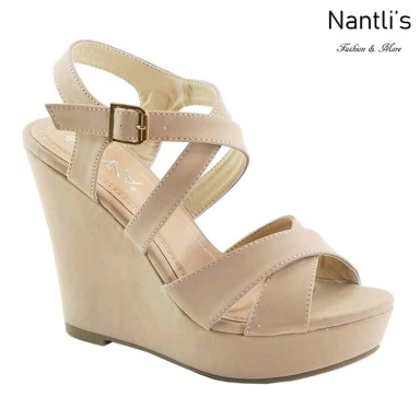 AN-Paso-6 Beige Zapatos de Mujer Mayoreo Wholesale Women Shoes Nantlis