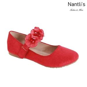 AN-Shani-45k Red Zapatos de nina Mayoreo Wholesale girls Shoes Nantlis
