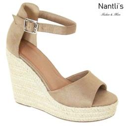 AN-Zhavia Taupe Zapatos de Mujer Mayoreo Wholesale Women Shoes Nantlis