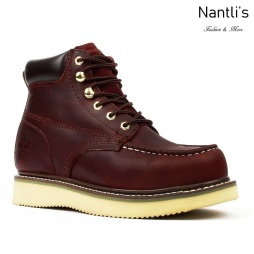 AS-650 Burgundy Botas de Trabajo Mayoreo Wholesale Work Boots Nantlis