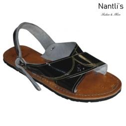 BA-cruzado negro Huaraches de hombre Leather Mexican sandals for men Nantlis