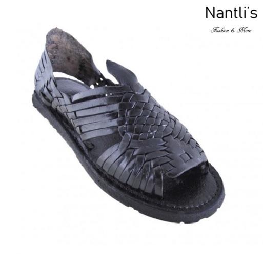BA-Tradicional Negro Huaraches de hombre Leather Mexican sandals for men Nantlis