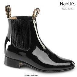 BA100 Charol Negro Botines Charros Equestrian Paddock Boots Nantlis