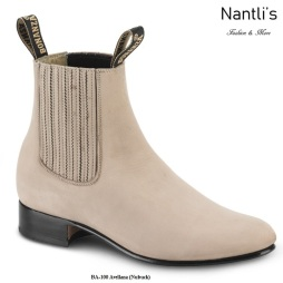 BA100 Nubuck Avellana Botines Charros Equestrian Paddock Boots Nantlis