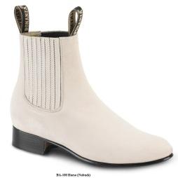 BA100 Nubuck Hueso Botines Charros Equestrian Paddock Boots Nantlis