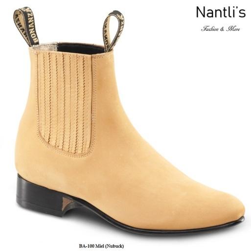 BA100 Nubuck Miel Botines Charros Equestrian Paddock Boots Nantlis