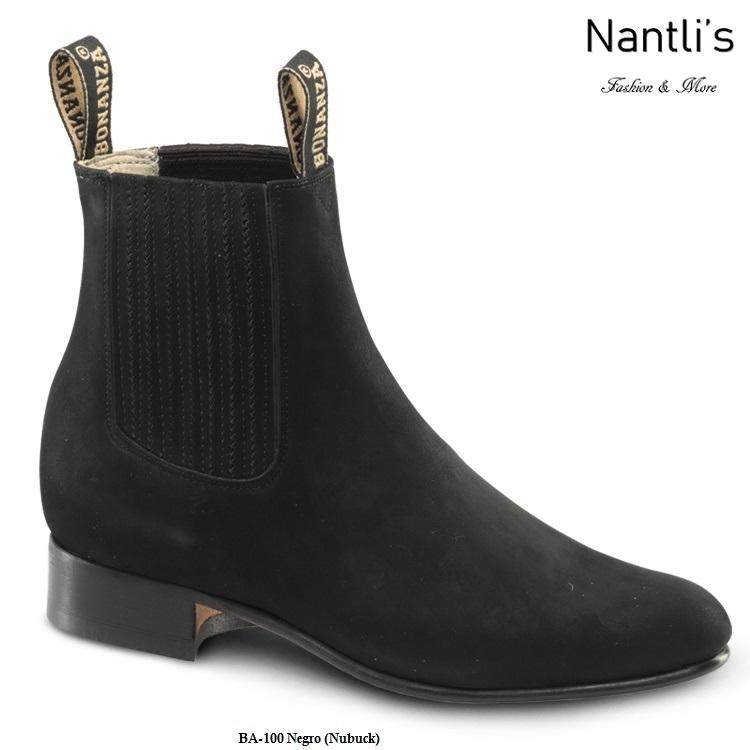 9e3111e994 BA100 Nubuck Negro Botines Charros Equestrian Paddock Boots Nantlis ...