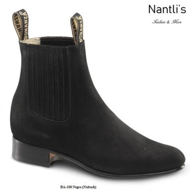 BA100 Nubuck Negro Botines Charros Equestrian Paddock Boots Nantlis