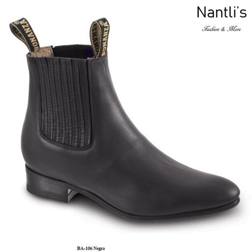 BA106 Black Botines Charros Equestrian Paddock Boots Nantlis