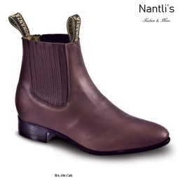 BA106 Brown Botines Charros Equestrian Paddock Boots Nantlis