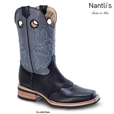 BA4000 Black Botas Vaqueras Rodeo Western Boots Nantlis