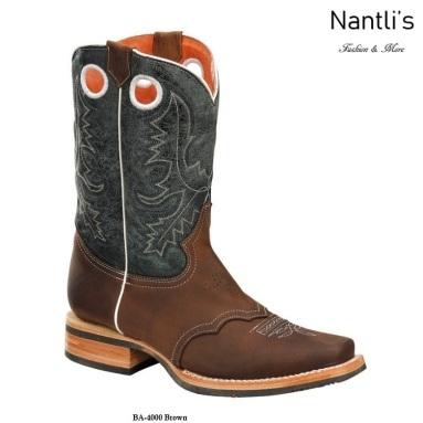 BA4000 Brown Botas Vaqueras Rodeo Western Boots Nantlis