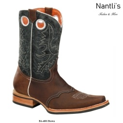 BA4001 Brown Botas Vaqueras Rodeo Western Boots Nantlis