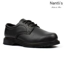 BA-404 black Zapatos de Trabajo Mayoreo Wholesale Work Shoes Nantlis