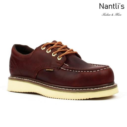 BA-422 burgundy Zapatos de Trabajo Mayoreo Wholesale Work Shoes Nantlis